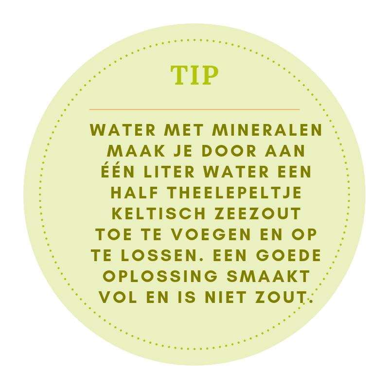 Tip water met mineralen