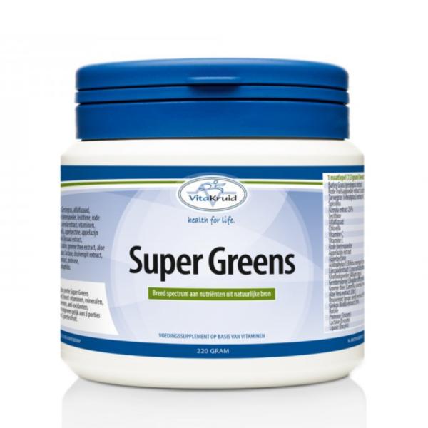Super Greens, voor een optimale gezondheid, energie, darmflora en weerstand