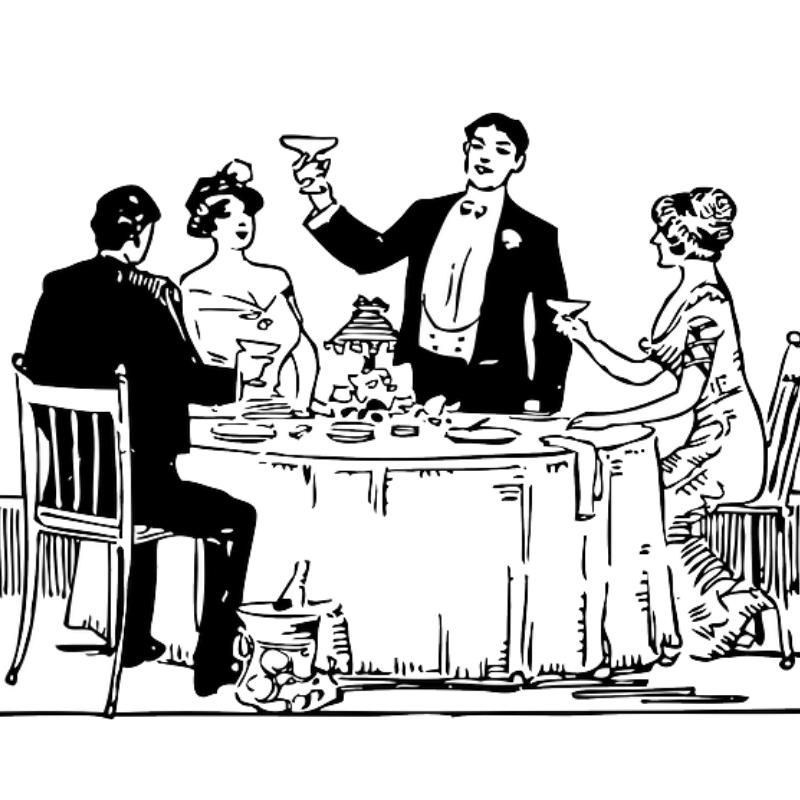 Eten met vrienden of collega's